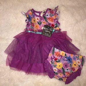 NWT! Matilda Jane Pink Ruffle Dress w/ Bloomers